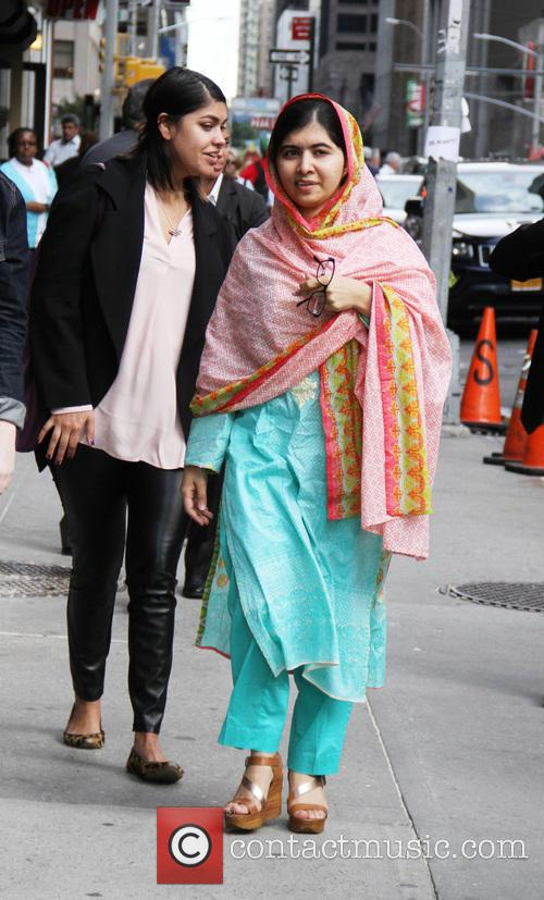 Stephen Colbert and Malala Yousafzai 3