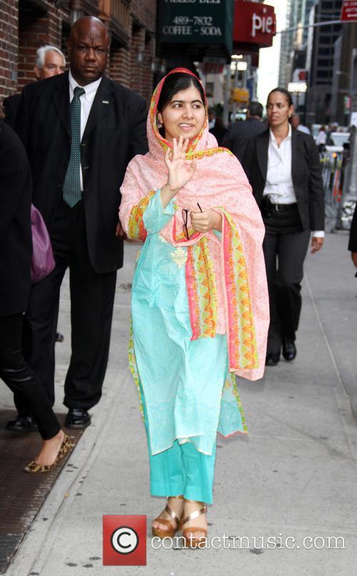 Stephen Colbert and Malala Yousafzai 5