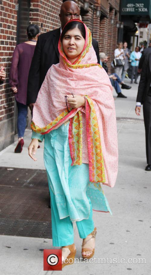 Stephen Colbert and Malala Yousafzai 1
