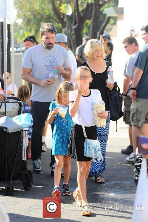 Ben Affleck, Christine Anne Boldt, Violet Affleck and Seraphina Rose Affleck