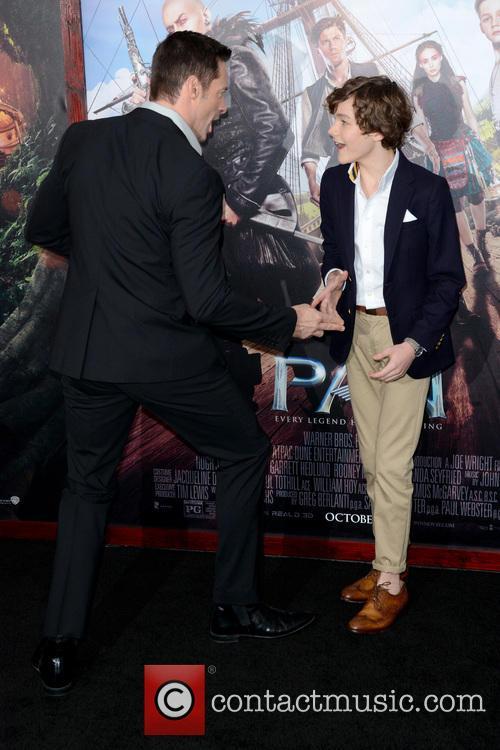 Hugh Jackman and Levi Miller