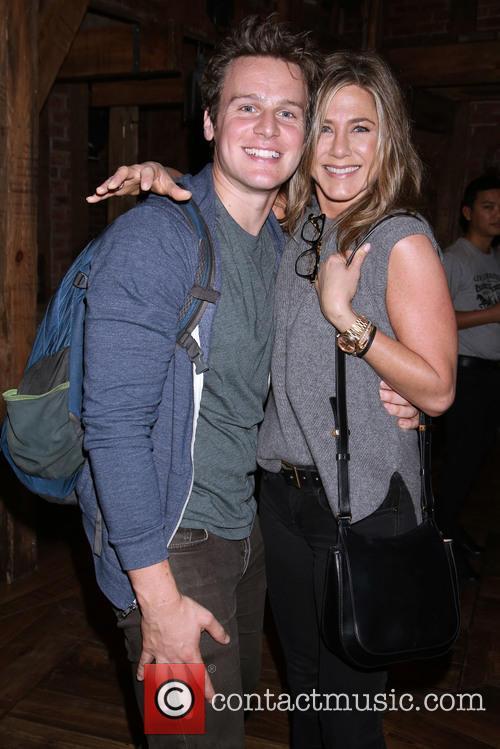 Jonathan Groff and Jennifer Aniston