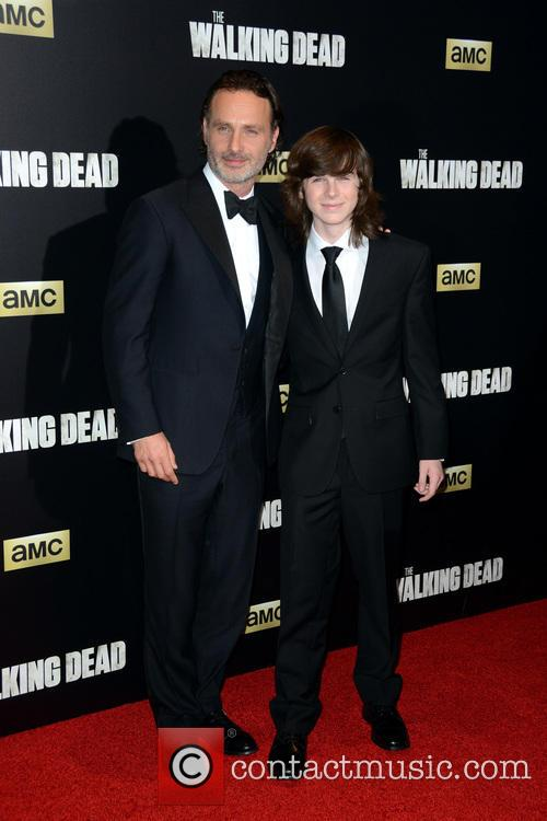 Andrew Lincoln and Chandler Riggs 2