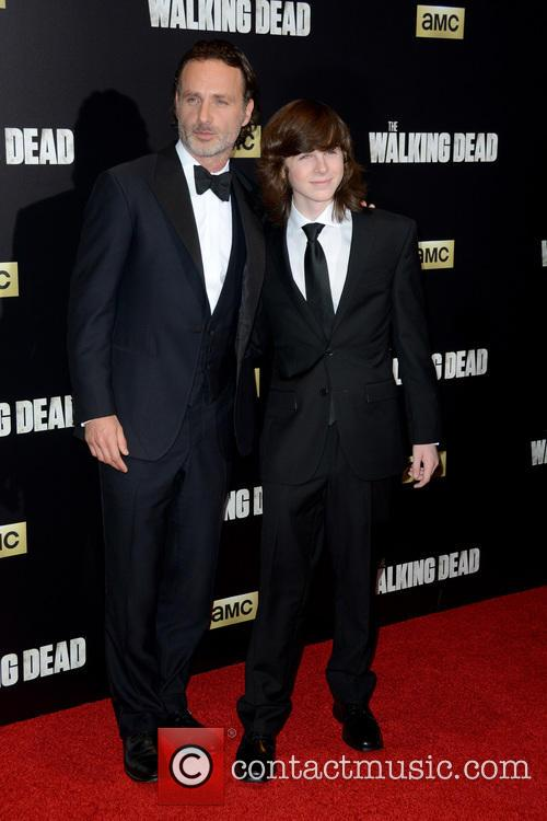 Andrew Lincoln and Chandler Riggs 1
