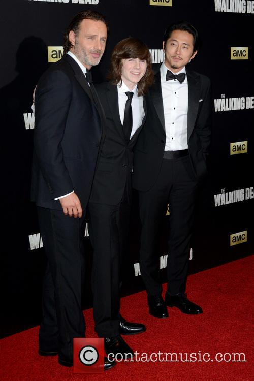 Andrew Lincoln, Chandler Riggs and Steven Yeun