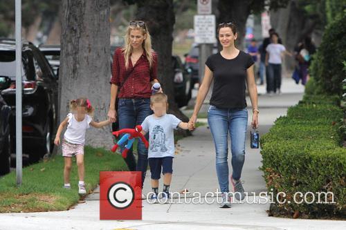 Jennifer Garner, Seraphina Rose Elizabeth Affleck and Samuel Garner Affleck