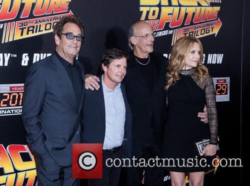 Huey Lewis, Michael J. Fox, Christopher Lloyd and Lea Thompson 2