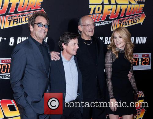 Huey Lewis, Michael J. Fox, Christopher Lloyd and Lea Thompson 7