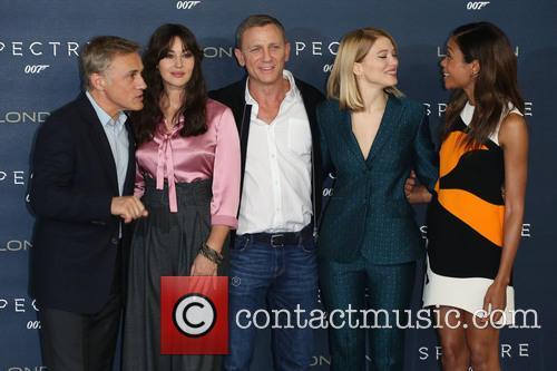 Monica Bellucci, Daniel Craig, Lea Seydoux, Naomie Harris and Christoph Waltz