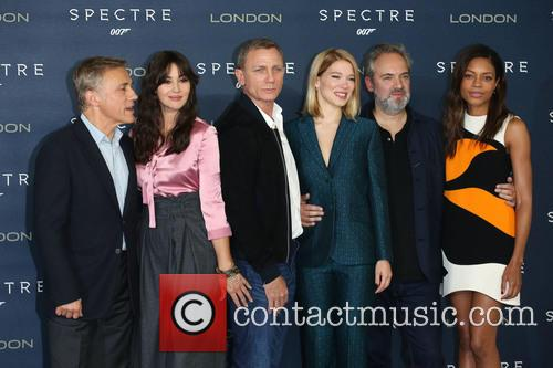 Monica Bellucci, Daniel Craig, Lea Seydoux, Naomie Harris and Christoph Waltz 3