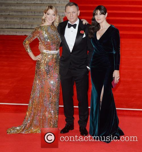 Monica Bellucci, Lea Seydoux and Daniel Craig