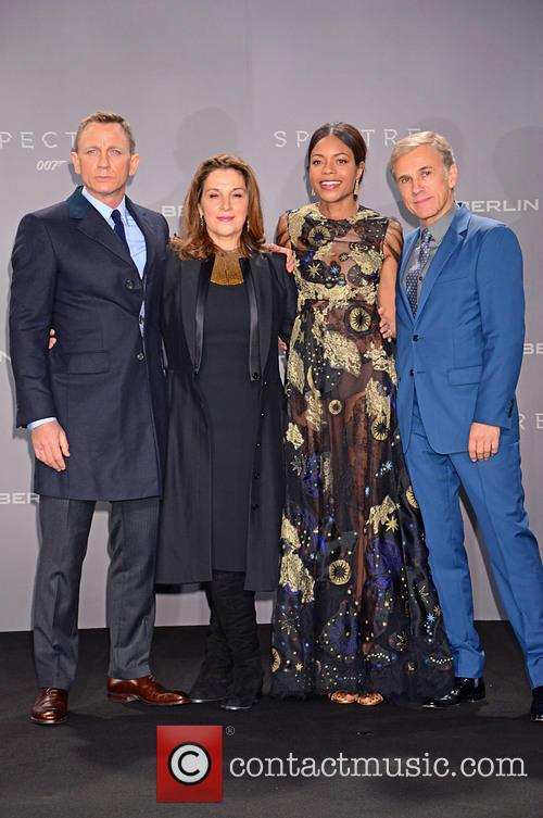 Daniel Craig, Barbara Broccoli, Naomie Harris and Christoph Waltz