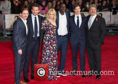 John Wells, Sam Keeley, Omar Sy, Sienna Miller, Bradley Cooper and Daniel Bruhl 2