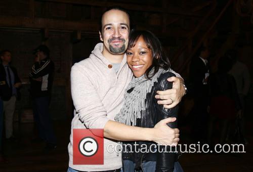 Lin-manuel Miranda and Nikki M. James