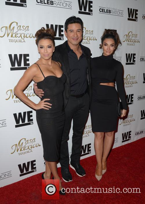 Eva Longoria, Mario Lopez and Courtney Mazza 2