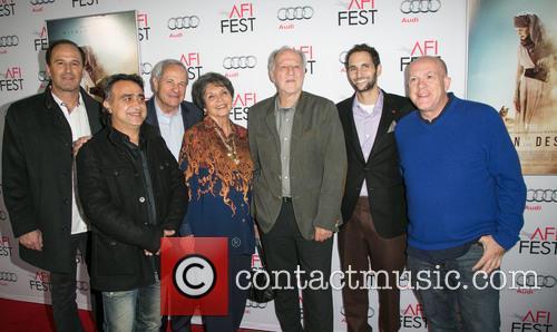 Harmon Kaslow, Nick Raslan, John Aglialoro, Joan Carter, Werner Herzog, Michael Benaroya and Cassian Elwes