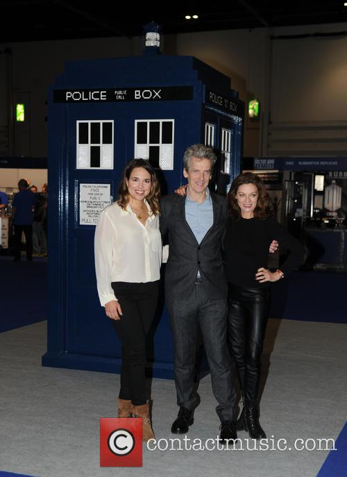Michelle Gomez, Ingrid Oliver and Peter Capaldi