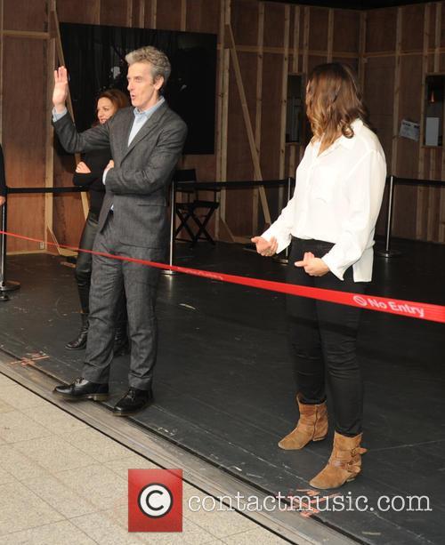 Michelle Gomez, Ingrid Oliver and Peter Capaldi
