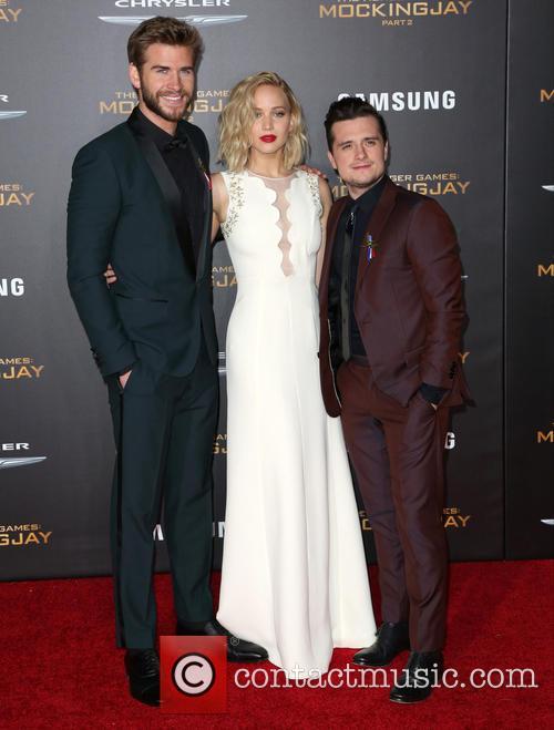 Liam Hemsworth, Jennifer Lawrence and Josh Hutcherson 1