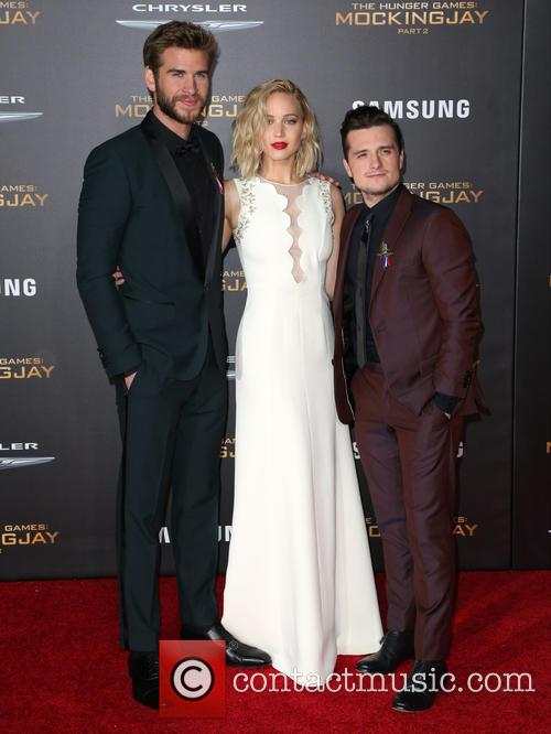 Liam Hemsworth, Jennifer Lawrence and Josh Hutcherson 2