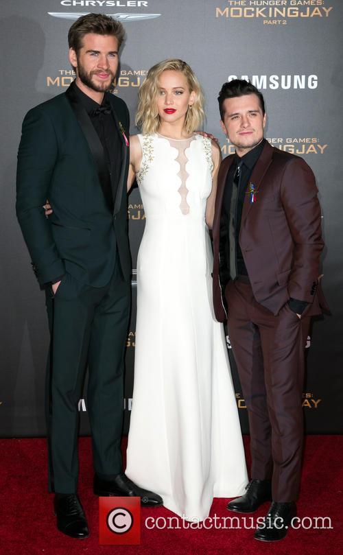 Liam Hemsworth, Jennifer Lawrence and Josh Hutcherson 6