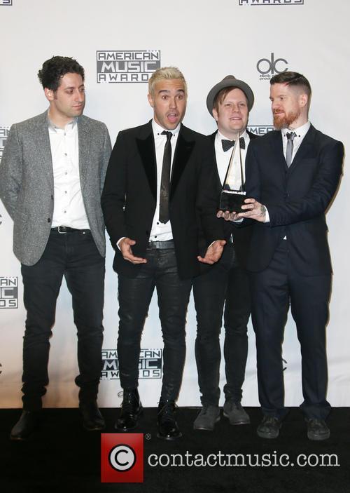 Joe Trohman, Pete Wentz, Patrick Stump, Andy Hurley and Of Fall Out Boy 6