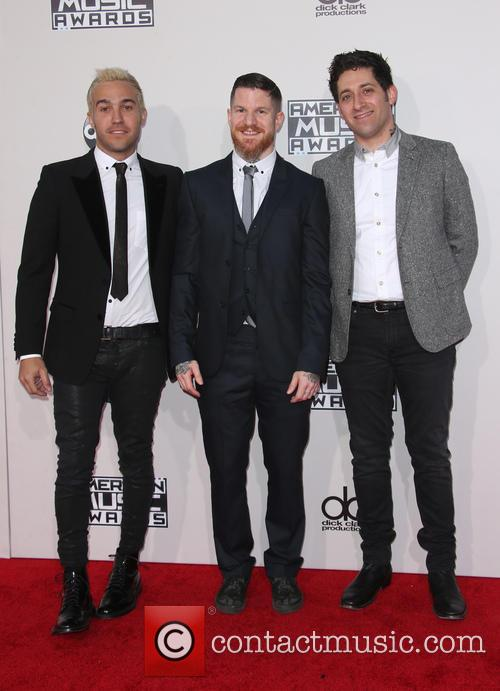 Pete Wentz, Andy Hurley and Joe Trohman