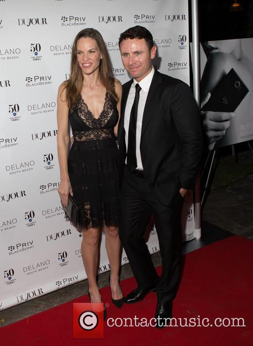 Hilary Swank and Ruben Torres