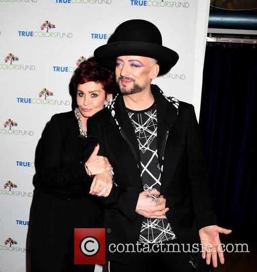 Sharon Osbourne and Boy George