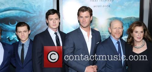 Benjamin Walker, Tom Holland, Chris Hemsworth and Ron Howard