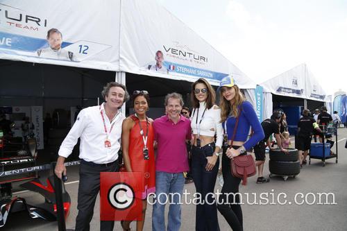 Naomie Harris, Jacques Villeneuve and Alessandra Ambrosio