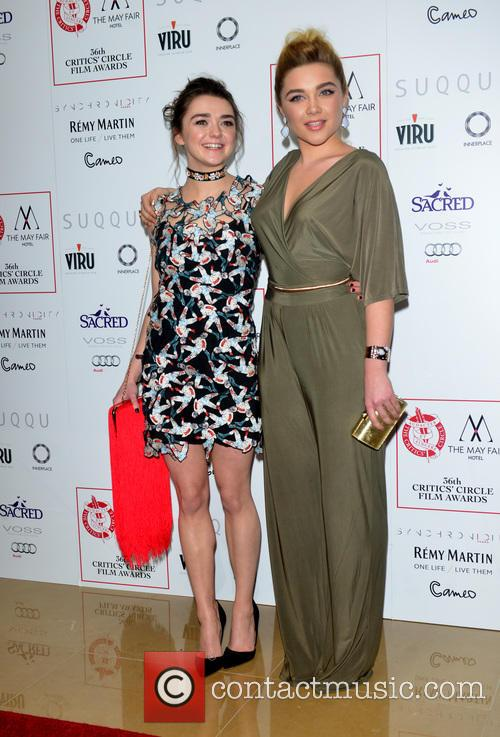 Maisie Williams and Florence Pugh 1