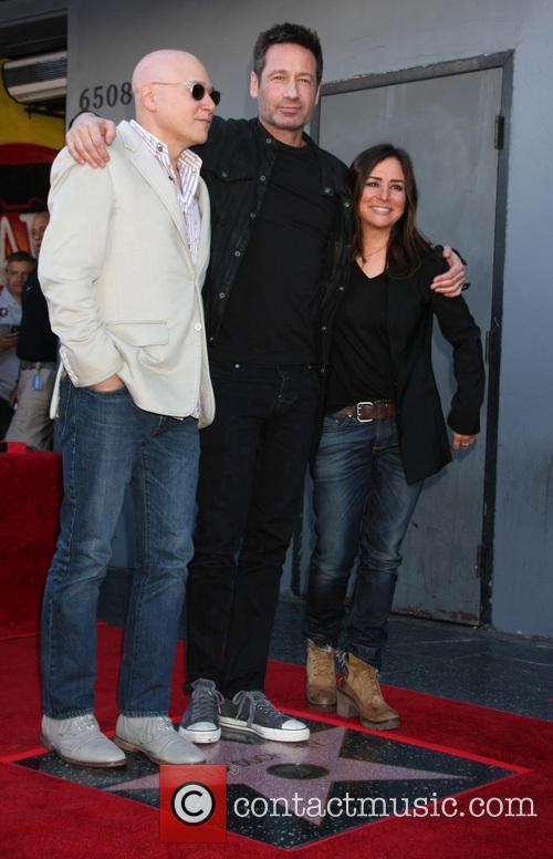 Evan Handler, David Duchovny and Pamela Adlon