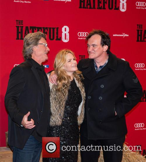 Kurt Russel, Jennifer Jason Leigh and Quentin Tarantino 1