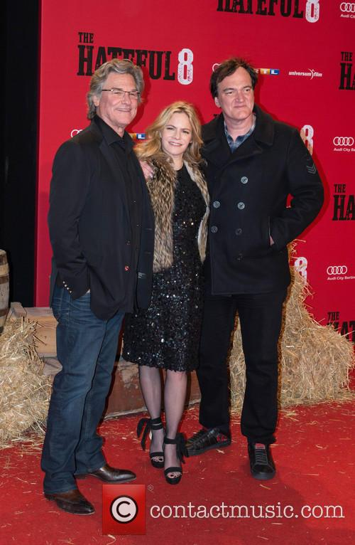 Kurt Russel, Jennifer Jason Leigh and Quentin Tarantino 3