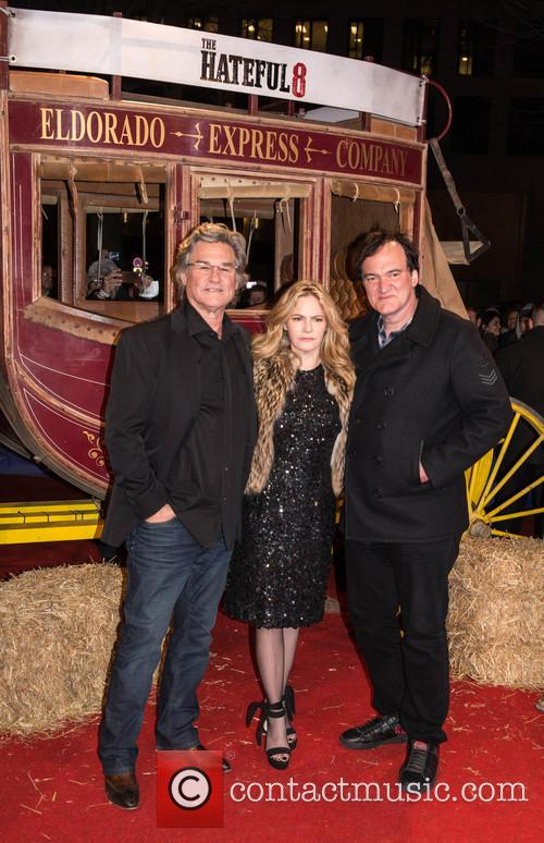 Kurt Russel, Jennifer Jason Leigh and Quentin Tarantino 6