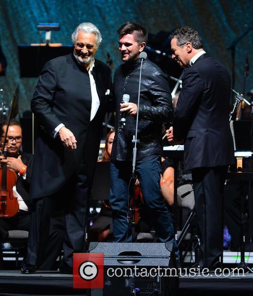 Placido Domingo, Juanes and Eugene Kohn 9