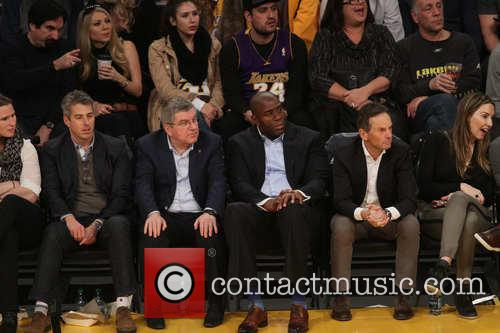 Magic Johnson and Thomas Bach 3