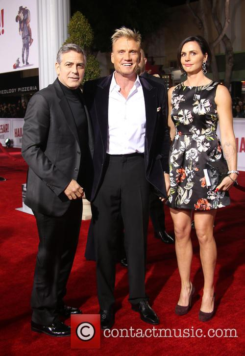 George Clooney, Dolph Lundgren and Jenny Sandersson