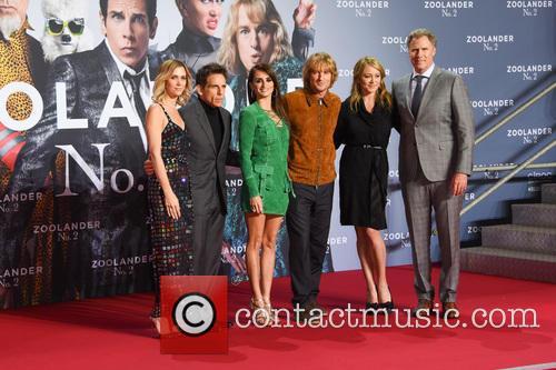 Justin Theroux, Kristen Wiig, Ben Stiller, Penelope Cruz, Owen Wilson, Christine Taylor and Will Ferrell