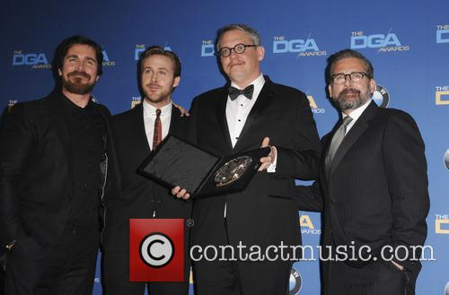 Christian Bale, Ryan Gosling, Adam Mckay and Steve Carrell 2