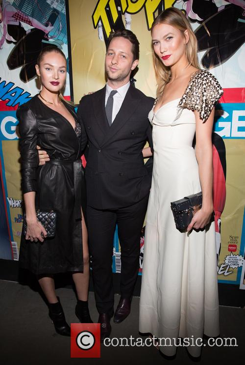 Candice Swanepoel, Derek Blasberg and Karlie Kloss 2