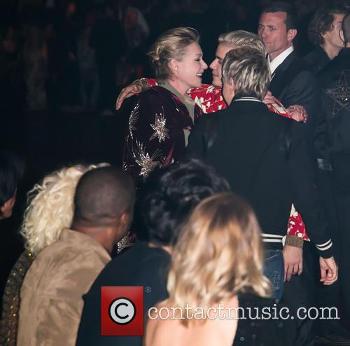 Portia De Rossi, Justin Bieber, Ellen Degeneres, Lady Gaga and Rosie Huntington-whiteley