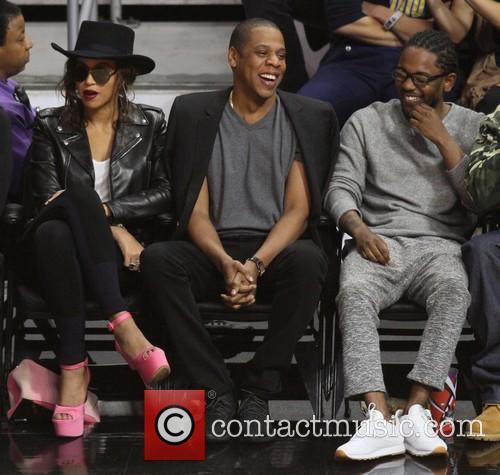 Jay Z, Beyonce' and Kendrick Lamar 5