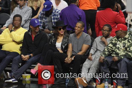 Jay Z, Beyonce' and Kendrick Lamar 10