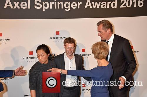 Mathias Doepfner, Priscilla Chan, Mark Zuckerberg and Friede Springer 1