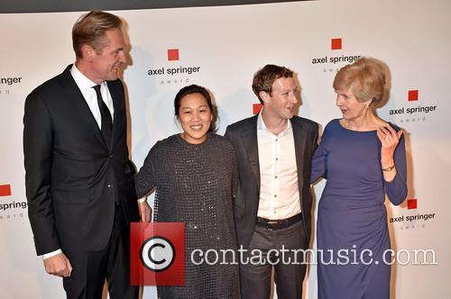 Mathias Doepfner, Priscilla Chan, Mark Zuckerberg and Friede Springer 6