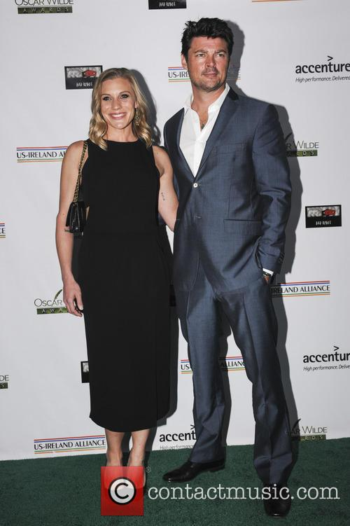 Katee Sackhoff and Karl Urban