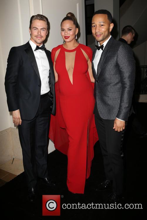 Derek Hough, John Legend and Chrissy Teigen