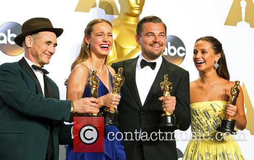 Mark Rylance, Brie Larson, Leonardo Dicaprio and Alicia Vikander 1